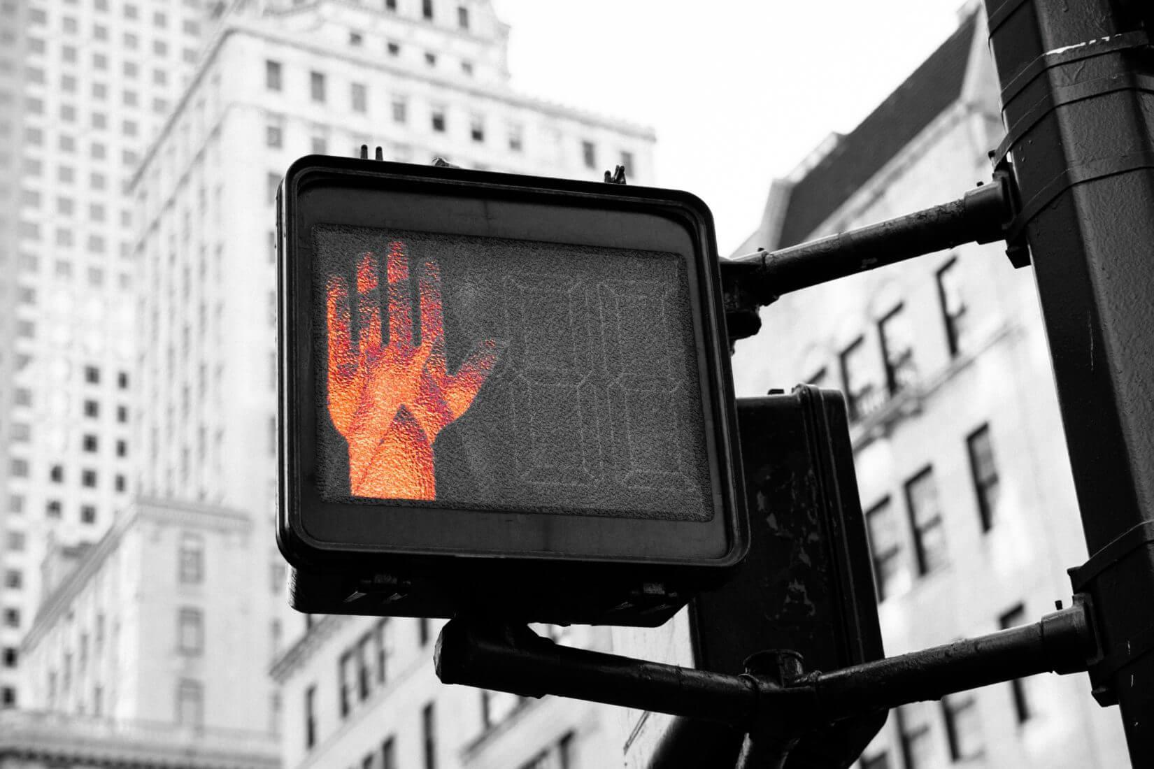 Stop Lichtanzeige