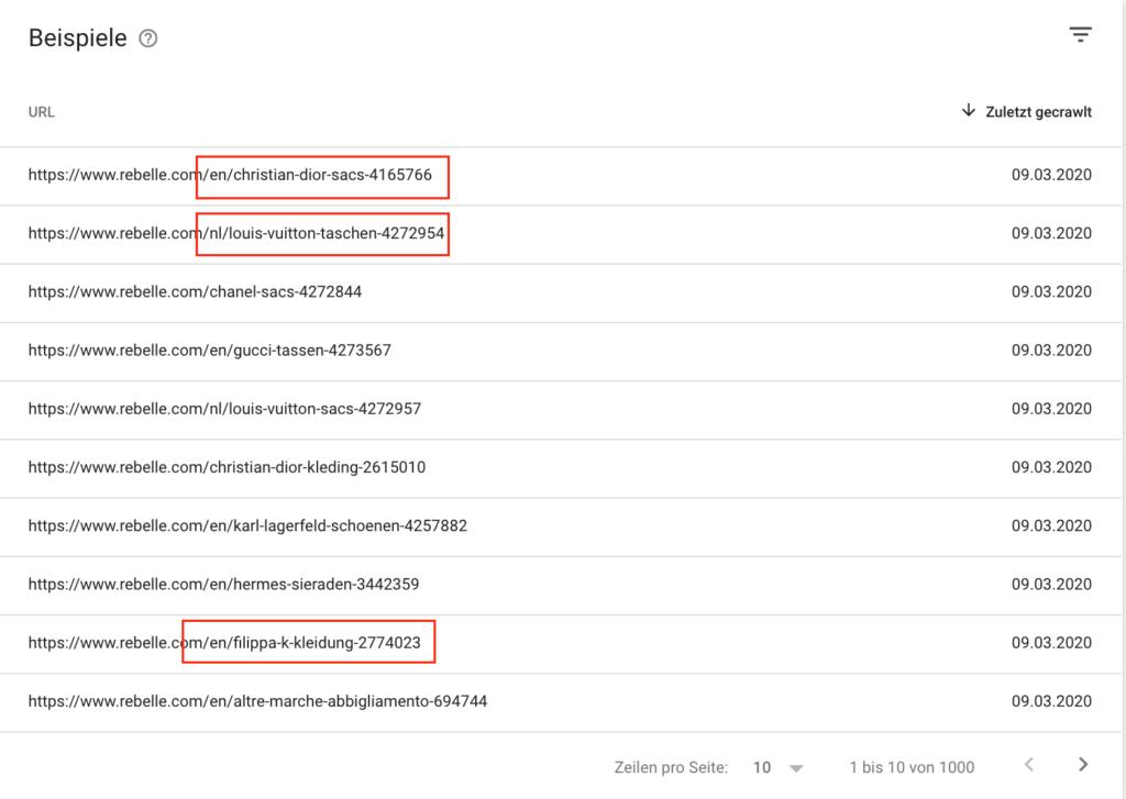 Duplicate Content Seiten in der Search Console