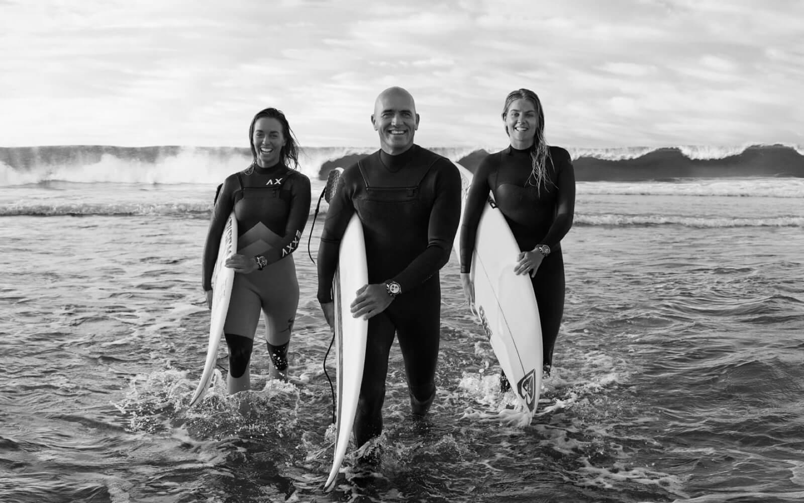 Surfer mit Breitling Uhren
