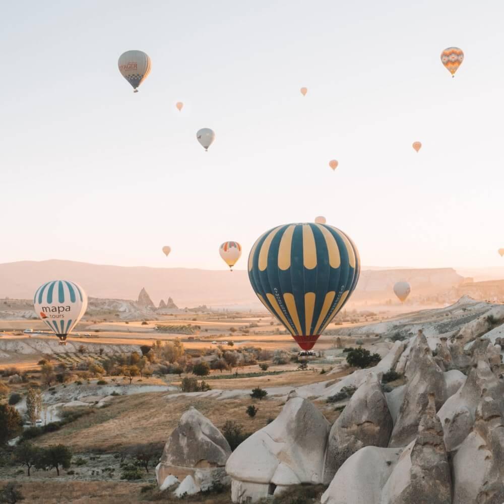 Steigende Ballons als Zeichen für Wachstum