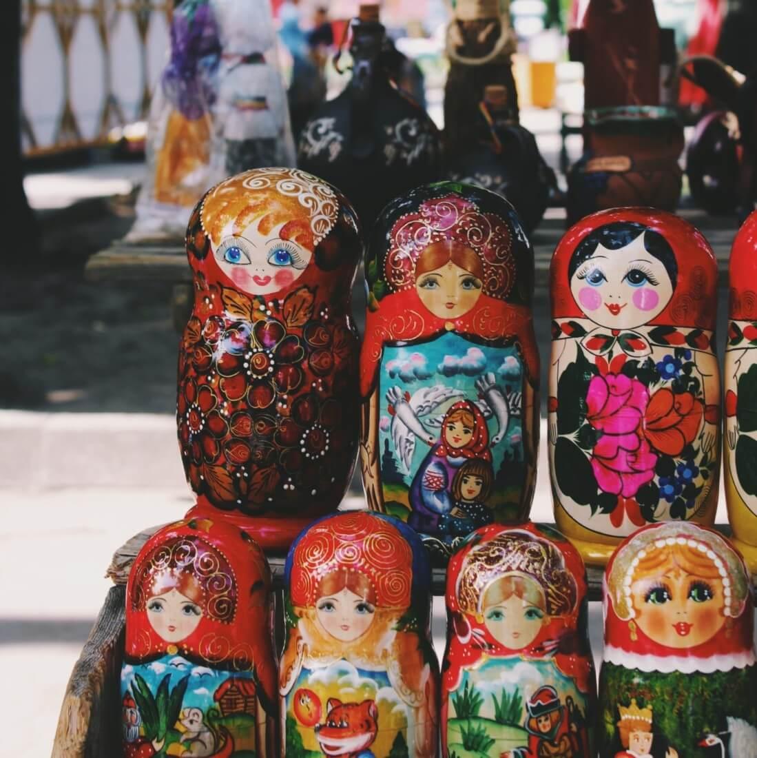 russische Matrjoschka Puppen