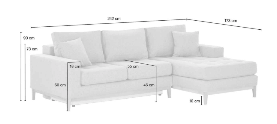 Product information of a sofa