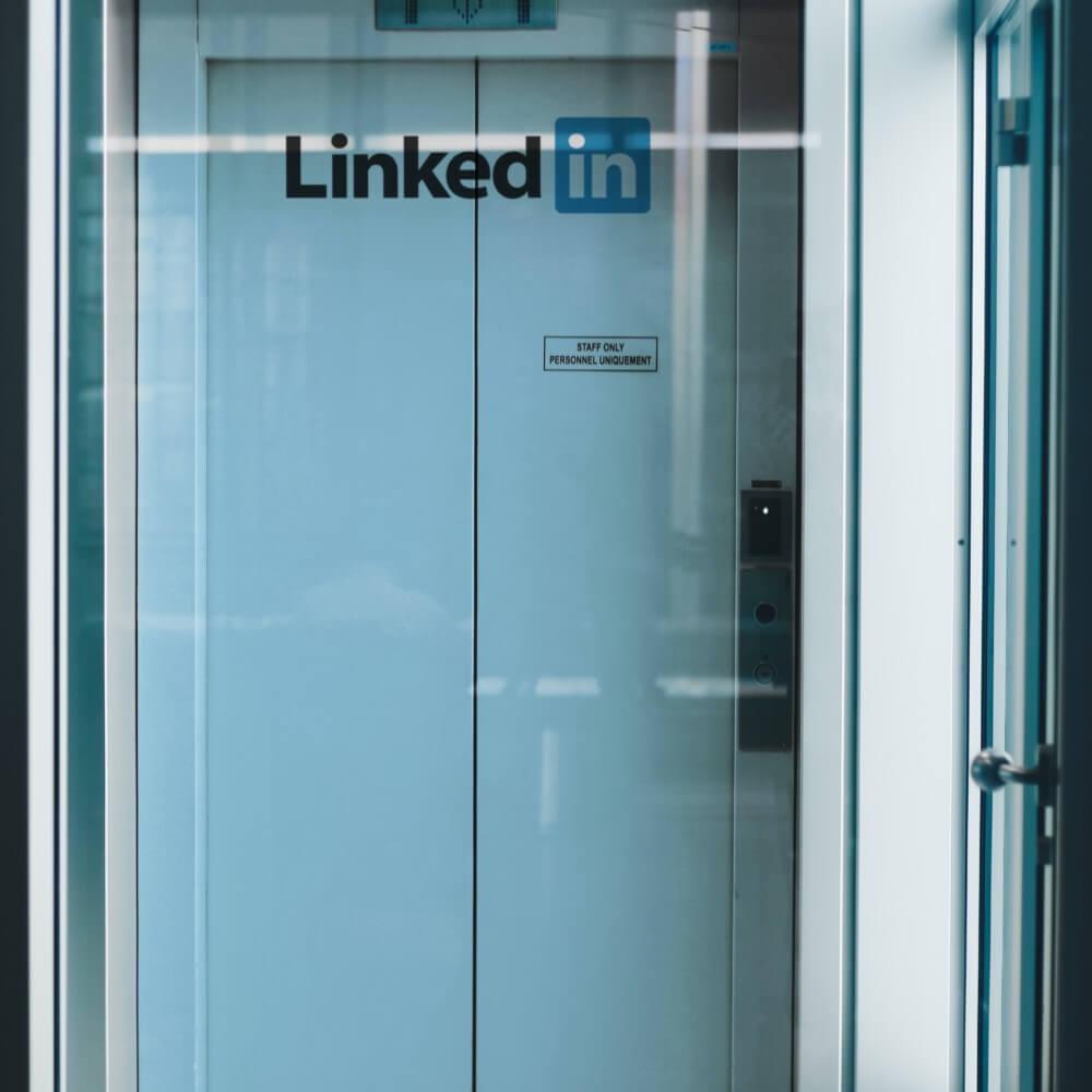 LinkedIn Schriftzug
