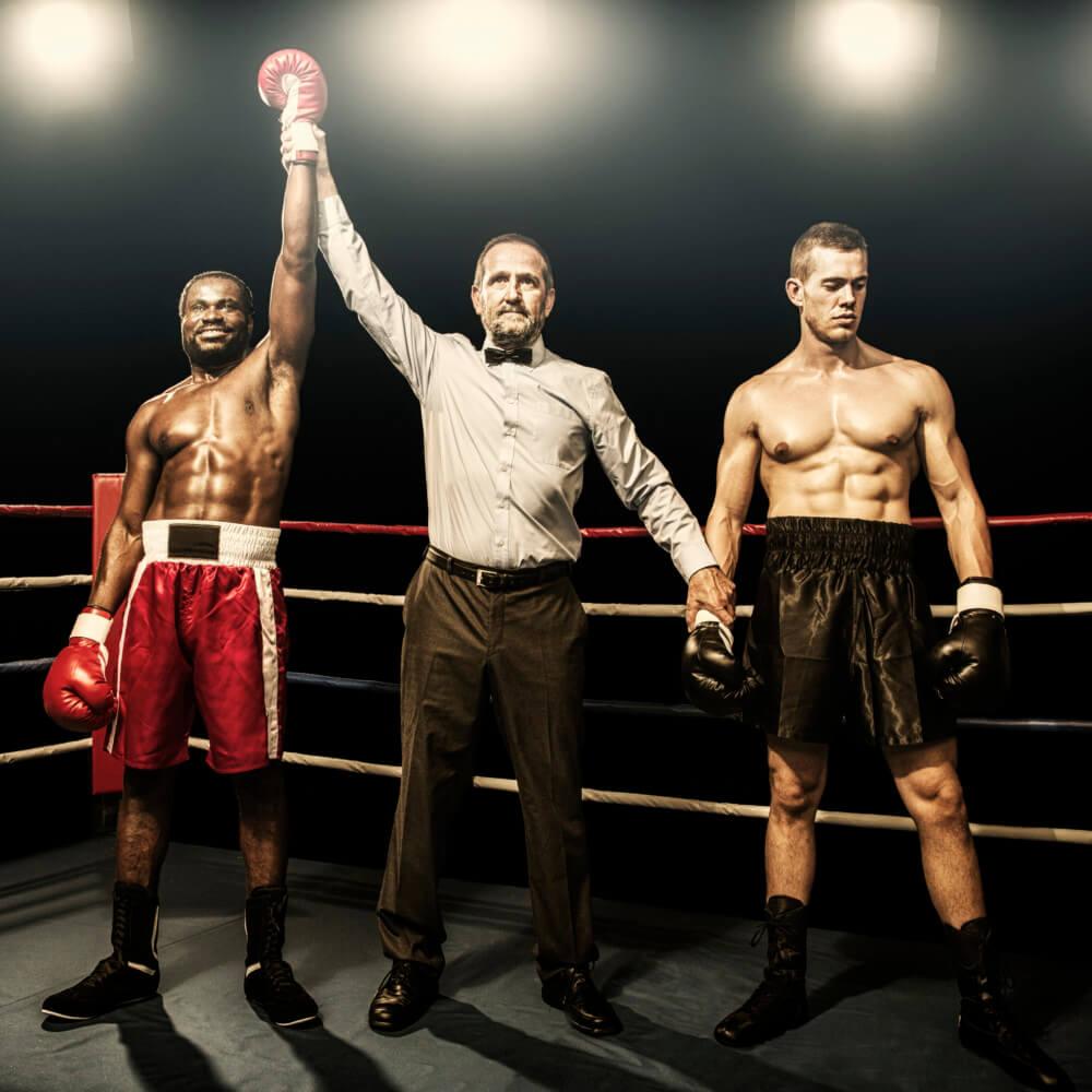 Entscheidung im Ringkampf