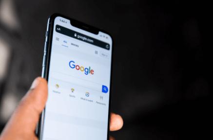 Iphone mit Google Suche Screen